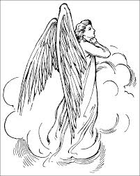 free coloring pages angels coloring