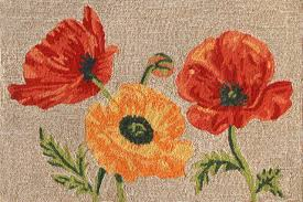 Poppy Area Rug Ravella 2272 12 Poppies Neut Rug Contemporary Area