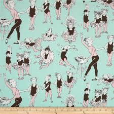 alexander henry monkey u0027s bizness ballet class pale aqua discount