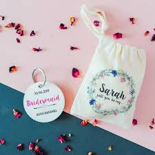 personalised will you be my bridesmaid keyring by the