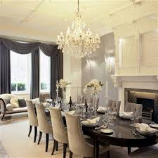 Fancy Dining Room | drapes fire place table for the home pinterest elegant