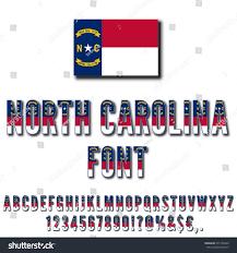 North Carolina Flag History North Carolina Usa State Flag Font Stock Vector 531759439