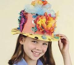 easter bonnets easter bonnet craft for easter monthly seasonal crafts kinderart