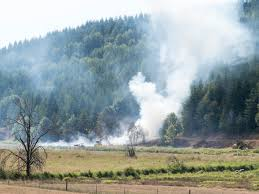 Wildfire Equipment Operators by Crews Battle Brush Fire Off Zenkner Valley Road Lewis County Watch