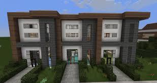 minecraft modern house designs 6 modern house row youtube