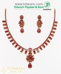 ruby drop earrings 22k gold ruby necklace drop earrings gs1515
