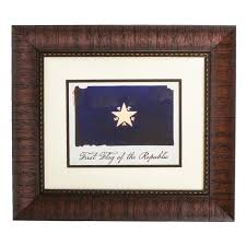 Texas Flag Decor Framed First Flag Of Republic Of Texas Texas Capitol Gift Shop