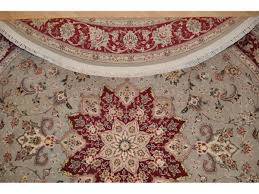 Round Traditional Rugs 7 U0027 X 7 U0027 Round Persian Rug Floral Made Out Of 100 Natural Silk