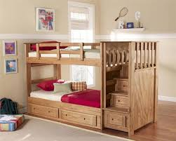 Free Plans For Loft Beds With Desk by Building Plans For Bunk Beds With Stairs Free Bunk Bed Plans