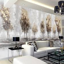 Hand Painted Wallpaper by Photo 3d Wallpapers Hand Painted Abstract Landscape Oil Painting