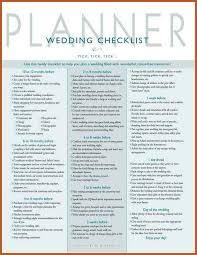 wedding checklist wedding planner checklist sop exle