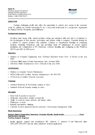 Resume Samples Network Technician by Desktop Support Engineer Resume Doc Resume For Your Job Application
