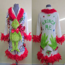 light up ugly christmas sweater dress funny 3 d grinch tacky ugly christmas sweater dress light up bow tie