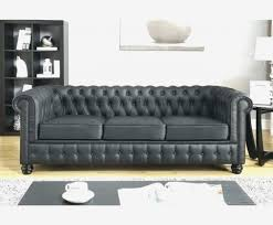 canapé chesterfield angle canap chesterfield cuir noir 3 places fm4industry org