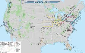 Keystone Map America Fast United States High Speed Rail Map By Onehellofabird