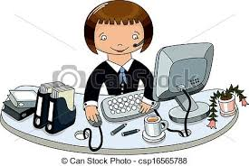 dessin de bureau dessiner femme bureau business griffonnage vecteur