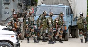 crackdown in kulgam amid protest army resorts to aerial firing
