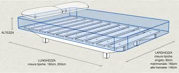 materasso standard misure standard letto una piazza e mezza letto una piazza e mezzo