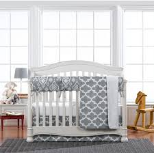 grey trellis 4 pc crib bedding set liz and roo