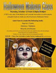 Makeup Classes In Columbus Ohio Halloween Makeup Class At C Tec Of Licking County Newark