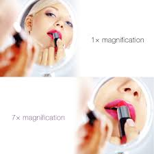 sanheshun 7x magnifying lighted travel makeup mirror amazon com cymas 7x magnifying lighted makeup mirror 15 min auto