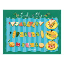 djeco cuisine emile and olive fast food multicoloured djeco toys and