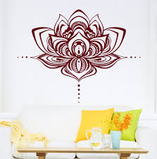 Lotus Flower Wall Decal Om by Lotus Flower Wall Decals Lotus Vinyl Stickers Namaste Bohemian