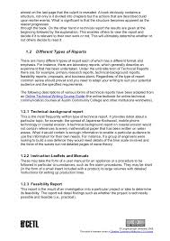 template for technical report technical report writing template