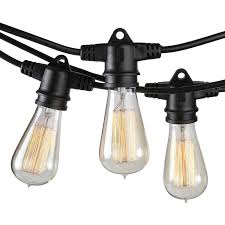 Edison Bulb Patio String Lights Brightech Ambience Pro Vintage Edition With Weathertite