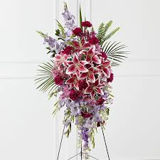 Funeral Flower Bouquets - purple funeral flowers and flower arrangements