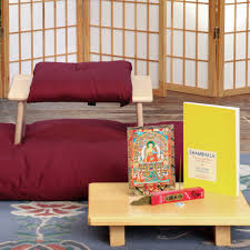 seiza bench sets with zabuton samadhi cushions