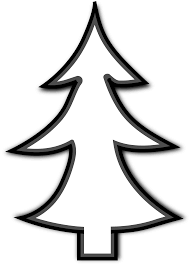 christmas tree drawing outline coloring picture hd for kids