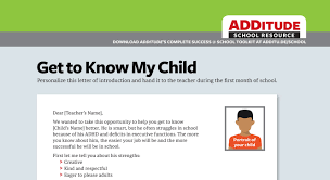 adhd at checklists sample letters daily report cards and more