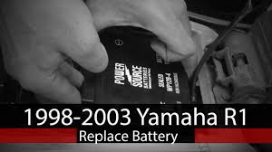 how to replace battery on 1998 2003 yamaha r1 youtube