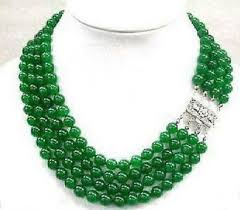aliexpress bead necklace images Stunning pretty 4 rows green jade beads necklace factory wholesale jpg