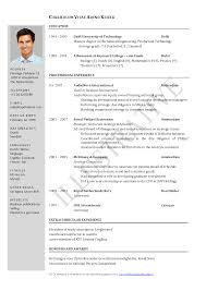 The Standard Resume Format For by Manmohan Singh Resume Pdf Sidemcicek Com