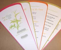 fan style wedding programs personalized custom wedding programs 5 blade fan style with