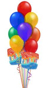 retirement balloon bouquet retirement balloon bouquet in chatham on pizazz florals balloons