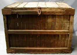 large wooden box large wooden crate bread box showing damage the portal to