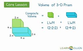 find the volume of complex rectangular prisms learnzillion