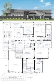 house plan contemporary courtyard house plan 61custom modern