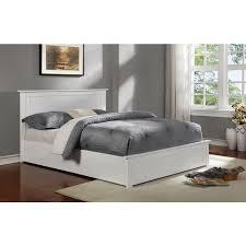 julieta queen oak wood gas lift bed frame in white buy queen bed