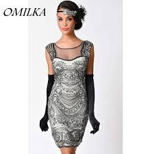 sequin dress omilka gatsby dress 1920s vintage backless mesh sequin dress black
