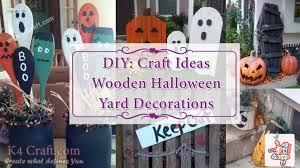 diy ideas for wooden halloween yard decorations k4 craft