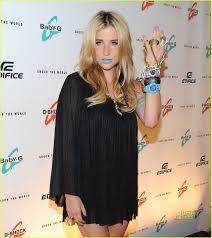 ke ha blue lipstick baby g photo 2470958 jared eng kesha