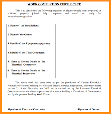 examples of certificates of completion 7 work completion certificate sample parts of resume