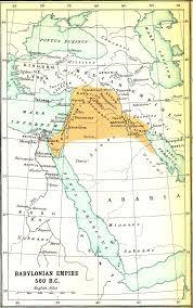 Babylonian Empire Map Smith Bible Atlas