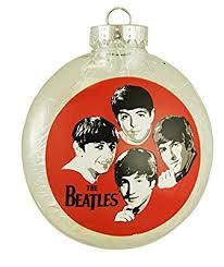 the beatles tinsel filled shatterproof disk ornament 4