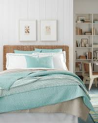 ocean coastal bedroom with wicker furniture hupehome