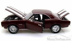1967 camaro diecast 1967 chevy camaro z 28 madeira maroon auto ertl amm976